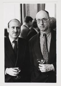 Portret van Martijn Sanders en Robert de Haas in Paviljoen Von Wied