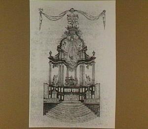 Het hoogaltaar van de Sint-Bernardusabdij te Hemiksem (België) met epitafen, balustrade en trappen