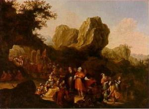 Laban zoekt de terafim, die door Rachel verborgen wordt gehouden (Genesis 31:34-35)