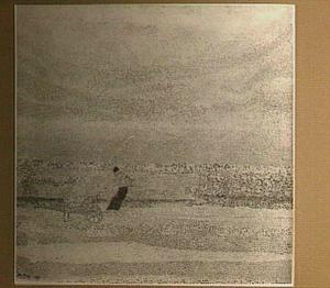 Schelpenvissers op het strand