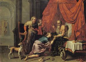 Jacob ontsteelt Esau Isaaks vaderlijke zegen  (Genesis 27:27-29)