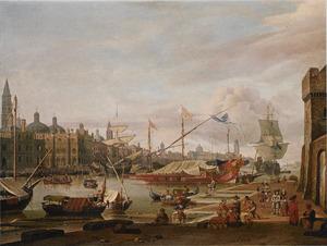 Een fantasiegezicht op het Canal Grande en het Dogenpaleis in Venetië