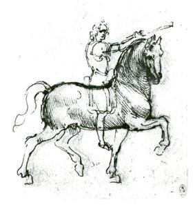 Ruiter, studie voor een monument voor Giacomo Trivulzio