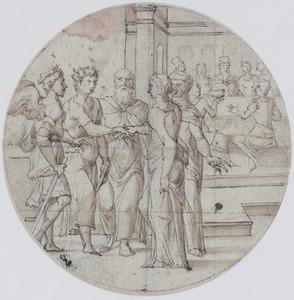 Raguel geeft Sara aan Tobias als zijn vrouw (Tobit 7-9)