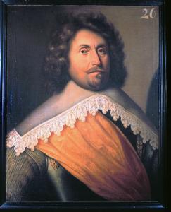 Portret van Gerrit Smidt, kapitein in het Noord-Hollands regiment