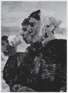 Drie vissersvrouwen uit Scheveningen