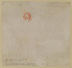 Lichte schets van een kleine kop (verso)