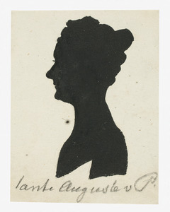 Portret van een vrouw, waarschijnlijk Auguste Sophie Wilhelmine von Pestel (....1829)
