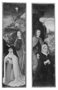 De H. Catharina met stichtster; onbekende heilige met stichtster