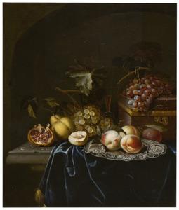 Vruchtenstilleven in een nis