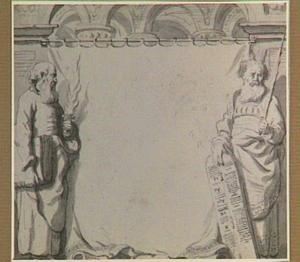 Mozes en H. Paulus als representanten van het Oude en Nieuwe Verbond