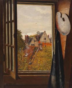 Uitzicht vanuit het atelier van de kunstenaar
