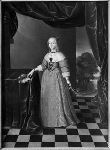 Portret van Sophia Amalia von Braunschweig-Lüneberg (1628-1685), koningin van Denemarken en Noorwegen
