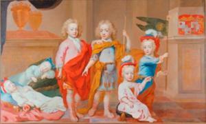 De kinderen van Friedrich Adolf Graf zur Lippe