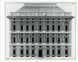 Palazzo Lomellini Patrone: Plan van de gevel