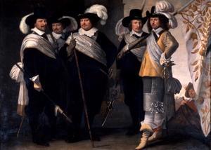 Officieren van het Witte Vendel, Delft, 1648