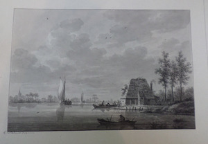 Schepen op de Nieuwe Maas bij IJsselmonde