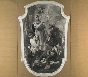 De bekering van de H. Willem van Maleval door de H. Bernardus van Clairvaux