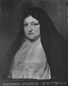 Portret van Isabella Clara Eugenia van Habsburg (1566-1633) als weduwe in habijt