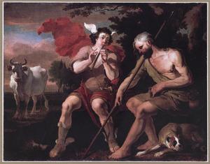 Mercurius speelt op de fluit om Argus in slaap te sussen