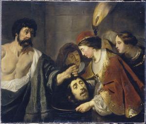 Salomé ontvangt het hoofd van Johannes de Doper van de beul