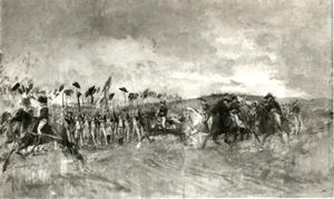 De ochtend na de slag bij Castiglione in 1796