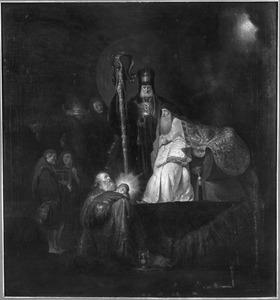 De opdracht in de tempel,  Simeon zingt 'Nunc Dimittis'