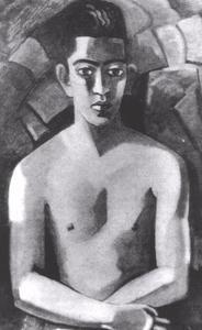 Portret van Albert Helman, pseudoniem van Lodewijk Alphonsus Maria Lichtveld (1903-1996)