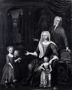 Portret van de familie van Jan Messchert (1690-1729)