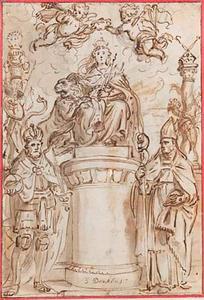 Ontwerp voor de titelpagina van 'Trophées tant sacrés que prophanes de la duché de Brabant'