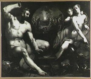Vulcanus maakt op verzoek van Venus wapens voor Aeneas (Vergilius, Aeneis 8:370-385)
