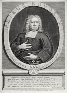Portret van Petrus Boudaan (1666-1734)