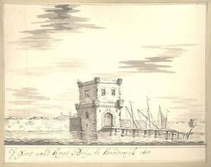 Harderwijk, de Hogebrugpoort aan de zeezijde anno 1607