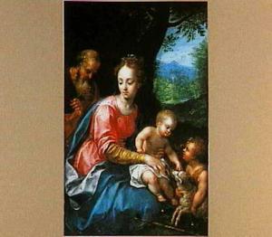 De H. Familie met Johannes de Doper als kind