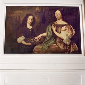 Dubbelportret van een dame en een jonge man