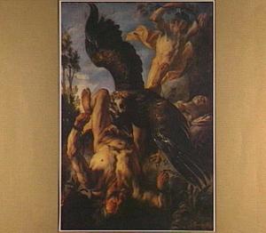 Prometheus door de adelaar van Zeus gekweld