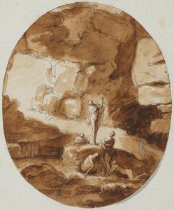Nimfen in een grotto