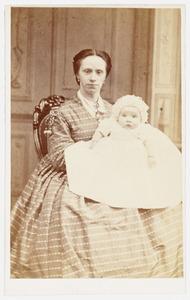 Portret van Jeanne Phillippine Francoise Pollen (1844-1908) en een baby