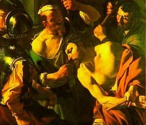 De doornenkroning (Matteüs 27:29)