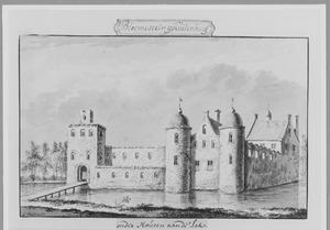 Voor- en rechterzijde van Bloemestein bij Culemborg