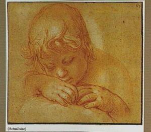 Hoofd en handen van een slapende kind