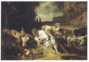 Mercurius brengt Argus in slaap met muziek