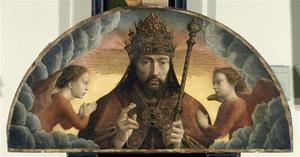 God de Vader tussen twee engelen (het Cervara-Altaar)