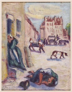 Le  cholera  (naar Daumier)