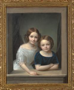 Dubbelportret van Henriette Steengracht (1839-1880) en haar broer Gustaaf Steengracht (1843-1908)
