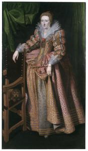 Portret van Yolande de Ligne (1585-1611), echtgenote van Charles-Alexandre de Croy