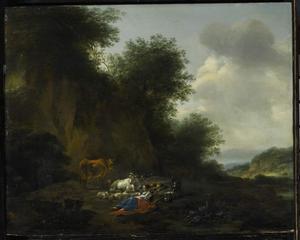 Landschap met rustend herderspaar