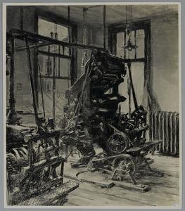 Zetmachines in drukkerij Mouton