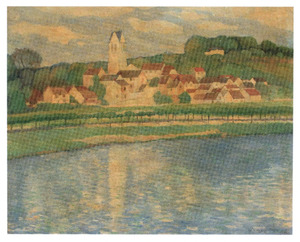 Gezicht op Auvers sur Oise