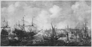 De aankomst van Frederik V van de Palts en zijn vrouw Elisabeth Stuart te Vlissingen in mei 1613
